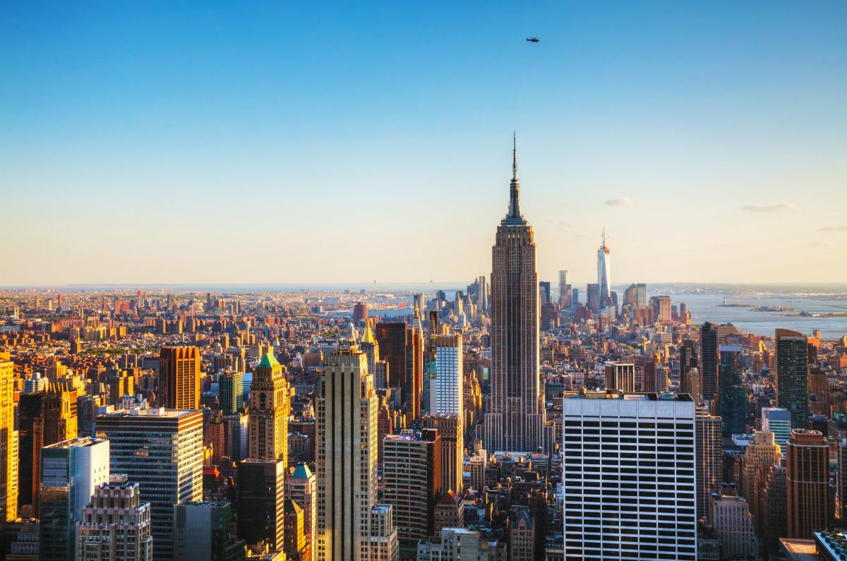New York City cityscape on a sunny day
