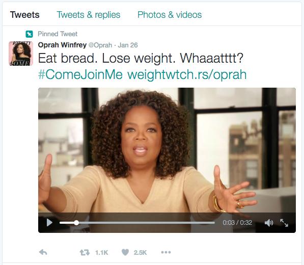oprah bread tweet video